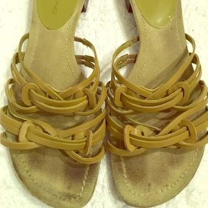 Bandolino Shoes - Bandolino Lite Green Leather Sandal